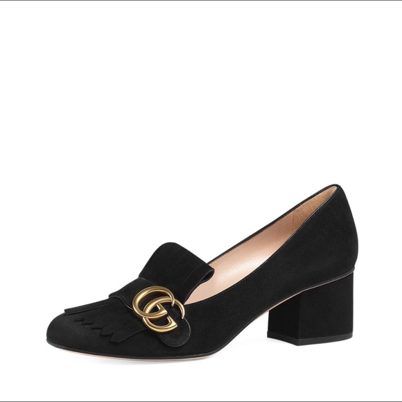 a7b934be130 Gucci Shoes -  Gucci  Marmont Kiltie Suede Loafer